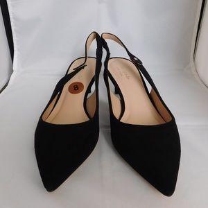 Kate Spade Shiloh Slingback Shoes Heels Black 8